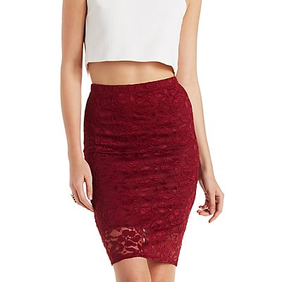 Lace Bodycon Pencil Skirt