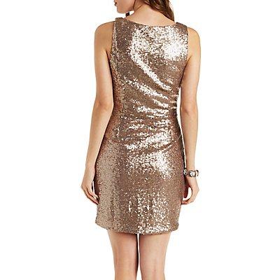 Sequined Sleeveless Bodycon Dress