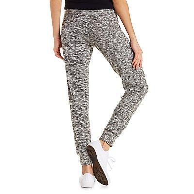 Marled Drawstring Jogger Pants