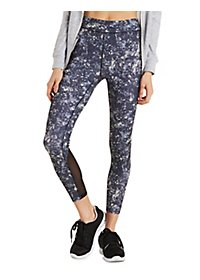 Mesh Techno Print Active Leggings