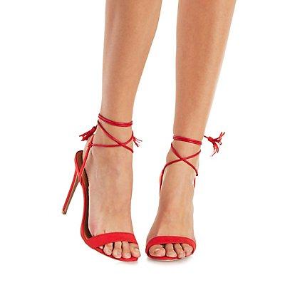 Tasseled Lace-Up Dress Sandals