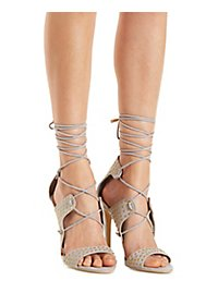 Privileged Studded Lace-Up Heels