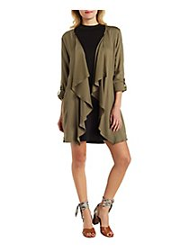 Draped Zip Pocket Jacket