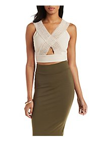Criss Cross Bandage Crop Top