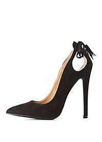 Cut-Out Tassel Back Pumps