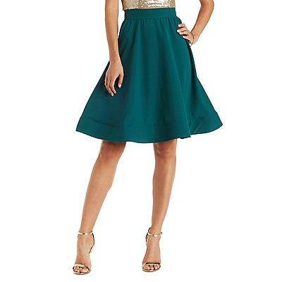 Full Hem Midi Skirt