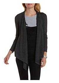 Shawl Collar Long Sleeve Cardigan