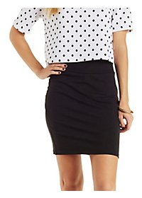 Stretch Cotton Bodycon Mini Skirt