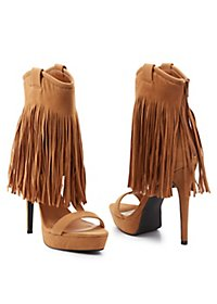 Privileged Fringe Cut-Out Sandals
