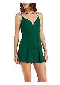 Strappy Plunging Chiffon Romper