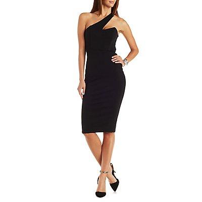 One Shoulder Bodycon Midi Dress