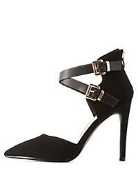 Ankle Strap Two-Piece Pumps