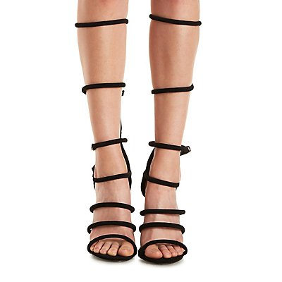 Strappy Buckled Gladiator Pumps