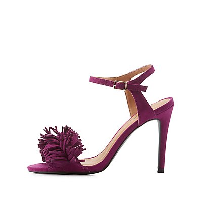 Qupid Fringed Two Piece Dress Sandals