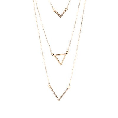 Triangles & Chevrons Layered Necklace