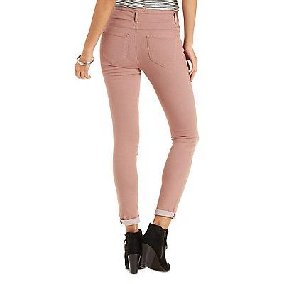 """REFUGE """"Hi Waist Skinny"""" Colored Jeans"""