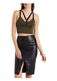 Colorblock Caged Crop Top