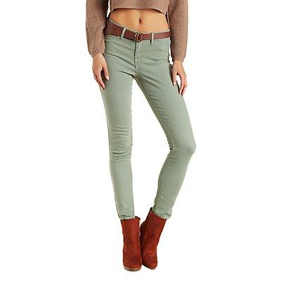 "Refuge ""Skin Tight Legging"" Colored Skinny Jeans"