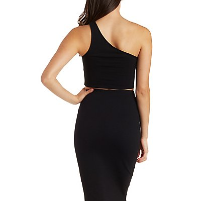 Asymmetrical One Shoulder Crop Top