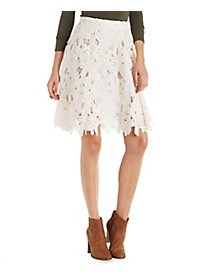Ark & Co Floral Lace Midi Skirt