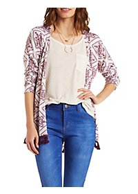 Tassel Fringe Cardigan Sweater
