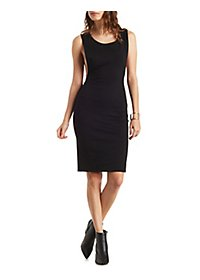 Side Plunge Bodycon Dress