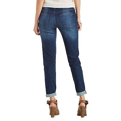 Sneak Peak Distressed Skinny Boyfriend Jeans