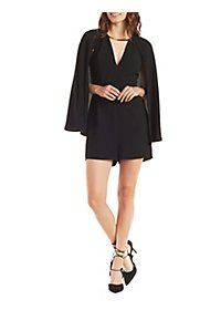 Caped Metal Bar Romper