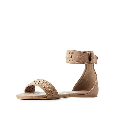 Studded Ankle Cuff Sandals