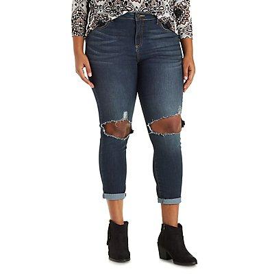 Plus Size Cello Medium Wash Skinny Jeans