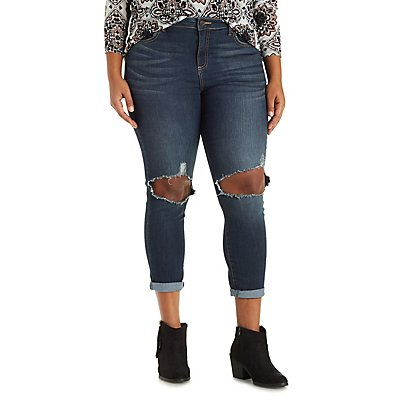 Plus Size Cello Medium Wash Skinny Jeans