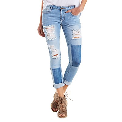 Machine Jeans Destroyed Cuffed Jeans