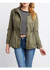 Hooded Zip-Up Anorak Jacket
