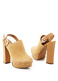 Report Chunky Wooden Heel Clogs