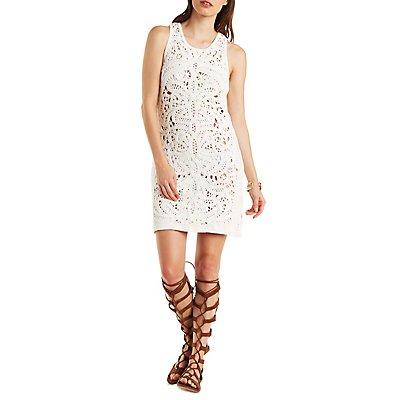 Re:Named Crochet Shift Dress
