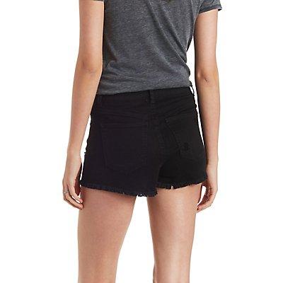 Refuge Hi-Rise Cheeky Cut-Off Denim Shorts