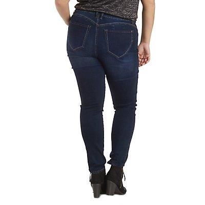 "Plus Size ""Rewash Push-Up Legging"" Skinny Jeans"