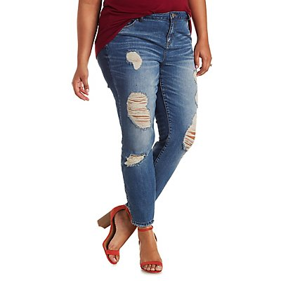 "Plus Size Refuge ""Ankle Skinny"" Jeans"