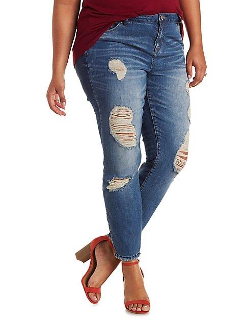 Plus Size Refuge Ankle Skinny Jeans | Charlotte Russe
