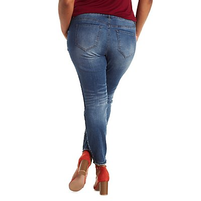 Plus Size Refuge Ankle Skinny Jeans