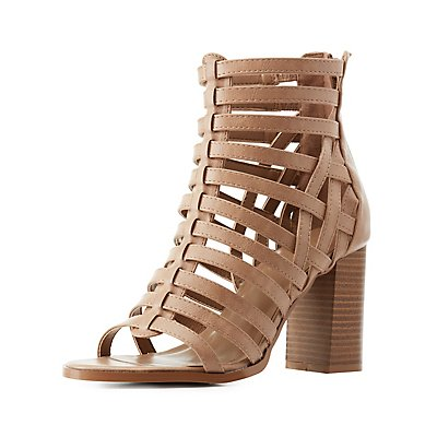 Strappy Stacked Heel Dress Sandals