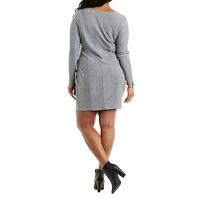 Plus Size Asymmetrical Bodycon Dress