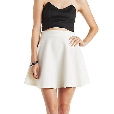 Ribbed Knit Skater Skirt