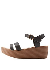 Qupid Chunky Flatform Sandals