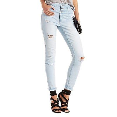 """Refuge """"Hi-Waist Skinny"""" Destroyed Jeans"""