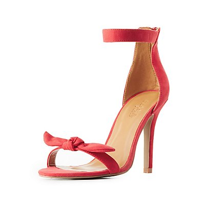 Bow-Topped Two Piece Dress Sandals