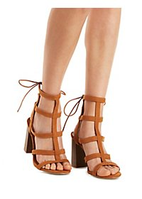 Chunky Heel Gladiator Sandals