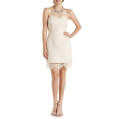 Lace-Trim Sweetheart Dress