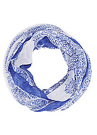 Intricate Print Infinity Scarf
