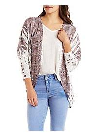 Paisley Print Cardigan Sweater